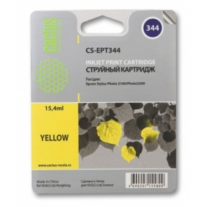 Картридж струйный Cactus CS-EPT344 желтый (yellow) для Epson Stylus Photo 2100
