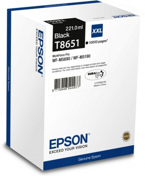 Картридж струйный Epson C13T865140 черный (black) для Epson WorkForce Pro WF-M5190DW/M5690DWF (10000 стр.)